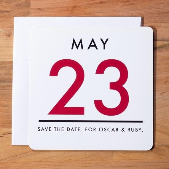 Vintage Calendar -  Save the Date
