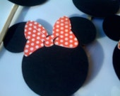 MINNIE MOUSE Cuocake Toppers - set of 75