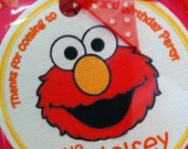 ELMO Thank You Tags set of 24 in Red, Yellow & Orange