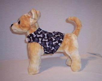 Black and Gray Dog Bone Harness Shirt