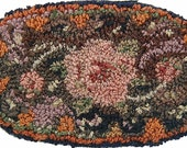 KIT Rose In Ring punchneedle embroidery WITH FLOSS