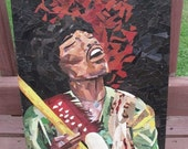 Jimi Jammin  -original recycled artwork - paper mosaic