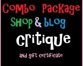 Etsy Shop Help and Blog Education Critique Report Bonus Book and Gift Certificate