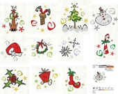 CHRISTMAS Sparklers Machine Embroidery Designs