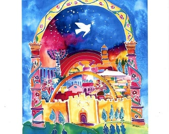 City of Peace, Handsigned Unframed print
