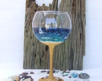 Beach Glass Red Wine Ballon