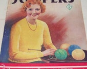 Knit Your Own Jumpers - Vintage Weldon's Knitting Pattern Magazine - 1930s