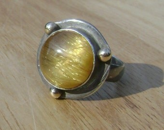 Sterling Silver Rutilated Quartz Ring A Touch of Venus