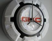 1970's GMC Hubcap Clock