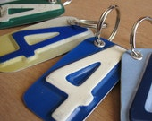 Number Four License Tag Keychain