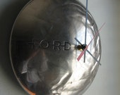 Reserved for Shawna 1940 Ford Deluxe Hubcap Clock no.1527