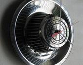 1968-74 Rally Wheel Chevy Corvette Camaro Hubcap Clock no.1648