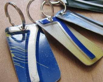 Number Seven License Tag Keychain