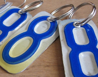 Number Eight License Tag Keychain