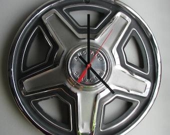 1969 Mustang Hubcap Clock No. 2490