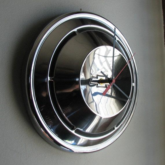 1969 Chevy Camaro Hubcap Clock no.1586