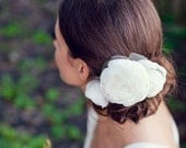 Luxury Bridal hair Peony flowers, Bridal hair accessories,  Fascinator  - Style (1) - Made to Order