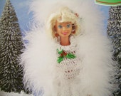 Holiday Barbie crochet pattern Snow Gown  Christmas Barbie Fashion doll on ETSY