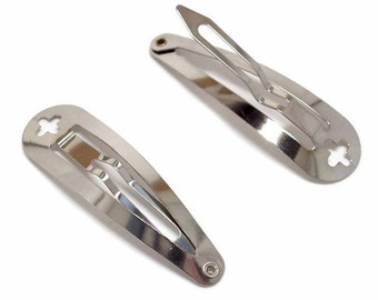 100 Cross Hole Snap Clips 2 inch 50mm