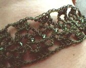 Creature of the night choker-olive green
