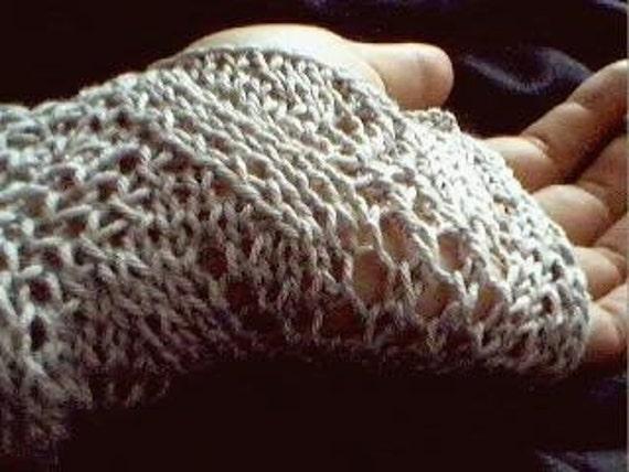 La Mer fingerless gloves- silver