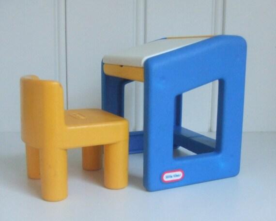 little tikes dollhouse artist school desk and by pegboardvintage. Black Bedroom Furniture Sets. Home Design Ideas