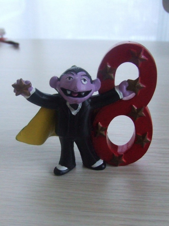 Vintage Sesame Street Character The Count Pvc Cake Topper