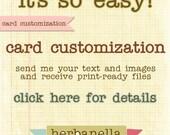 card customization