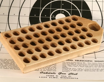 Maple reloading block with deep holes for .45-70 (and other larger calibers)