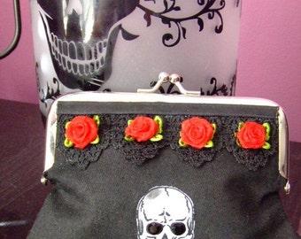 Skull N Roses Coin Purse