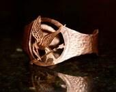 Hunger Games Mockingjay Copper Bracelet, Hand Made, Unofficial Memorabilia