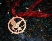 Hunger Games Mockingjay Necklace, Copper, unofficial memorabilia