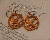 Hunger Games Mockingjay Earrings, Copper, unofficial memorabilia