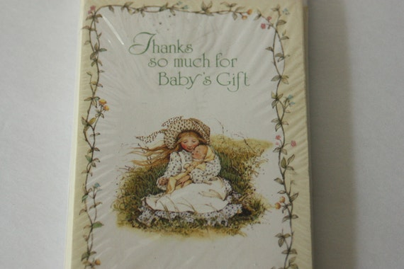 Vintage Baby Shower Thank You Cards Holly Hobbie