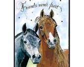 Handmade Friends Horse Card