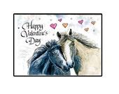 Handmade Valentines Day Horse Card