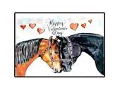 Handmade Valentine's Day Arabian Horse Card