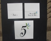 Floral Table Number and Escort Cards