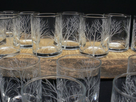 24 Tree Branch Votive Holders . Hand Engraved Glass Candle Holders 'Reaching Branches' Wedding Decorations Take 15% OFF At Checkout