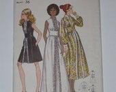 Vintage 70s Evening Dress Pattern Butterick 5967 Size 14 Bust 36