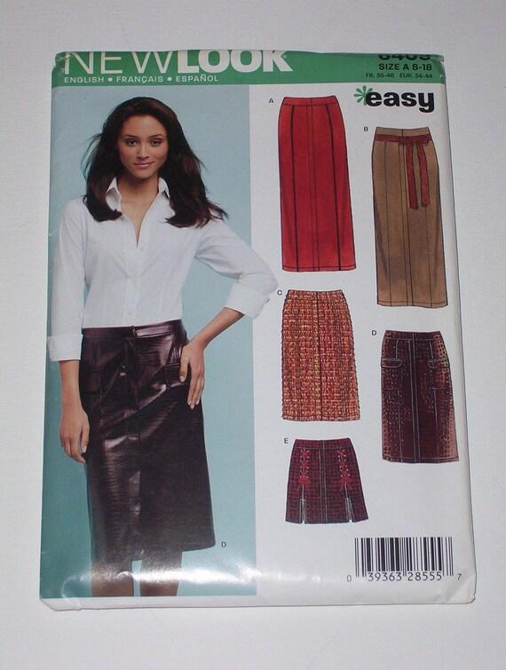 Misses Slim Skirt Pattern New Look 6409 Size 8 10 12 14 16 18  UNCUT