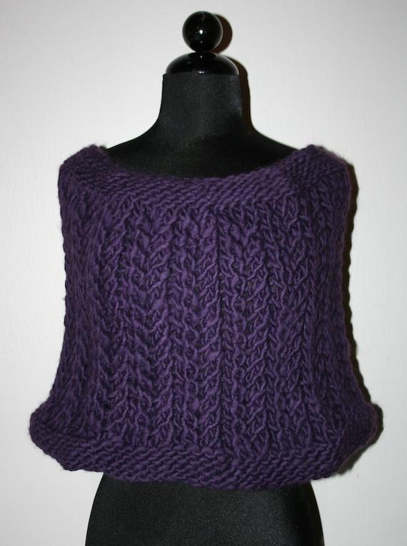 Twilight Purple Shoulder Wrap - Hand Knit - lajumPinBean Designs - Shoulder Wrap - Purple Knit Wrap - Wool Wrap