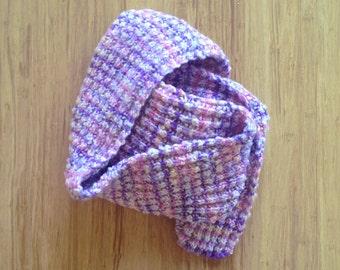 Multicolor Aurora Borealis chunky knit  striped scarf