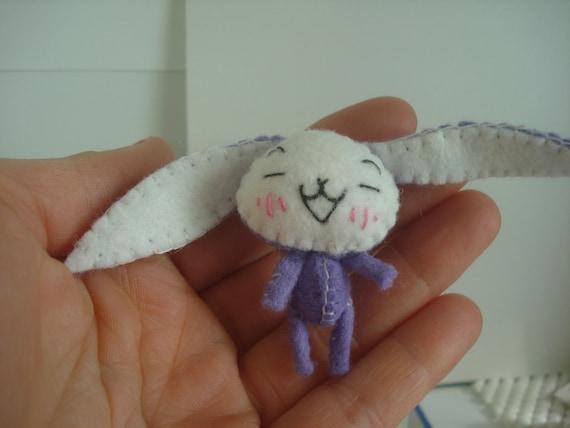 Tiny Kawaii Purple Miniature Bunny Rabbit Silly Little Thing