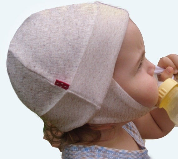 Organic Cotton Baby & Toddler Hat with Ear Flaps (neutral, large)
