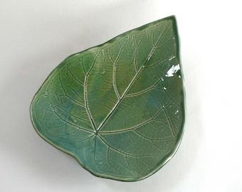 Large Green Leaf Platter