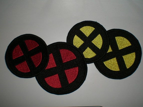 Custom Made X-Men Like Round Patches