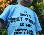 A Boy's BEST FRIEND is his MOTHER classic quote childrens \/ toddler T-shirt, Psycho Hitchcock Horror