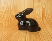 Black Ceramic Bunny Rabbit.