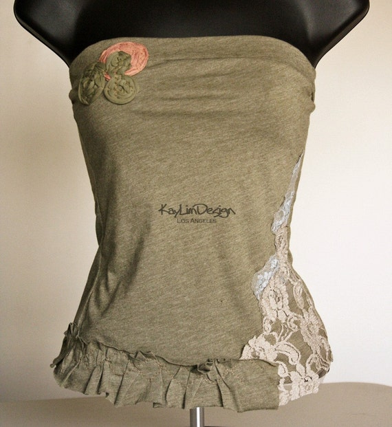 One of a kind cotton jersey tub top - KT399 XS-SMALL